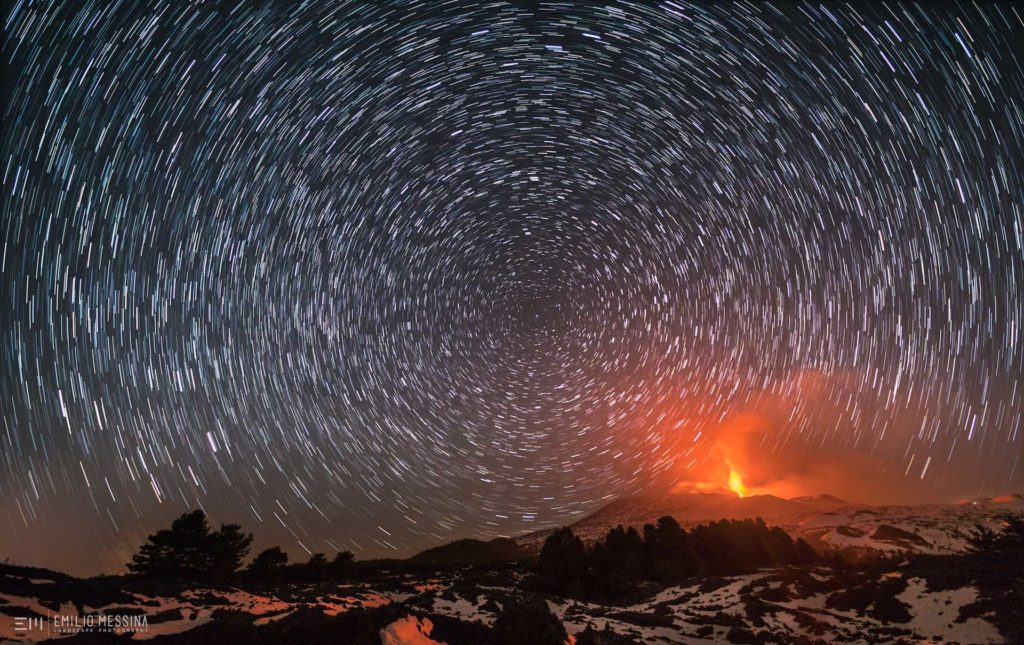 Star trail - Etna, 2017